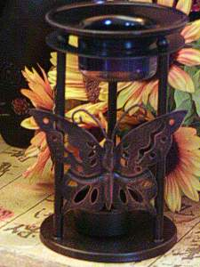 Metal Butterfly frame with glass aroma dish