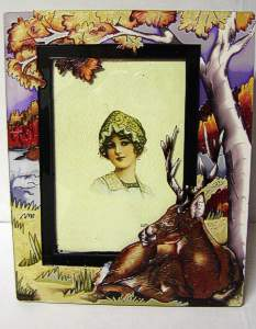 Stained Glass Deer Picture Frame