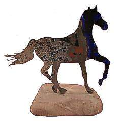 Beautiful and unusual horse figurine