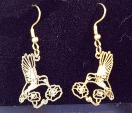 Very pretty hummingbird earrings