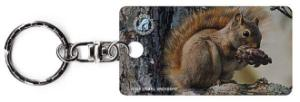 Picnic Perch Squirrel Keychain
